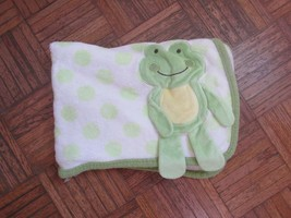 Koala Baby Frog Blanket 3D Polka Dots Plushed Fleece 2010 HTF - $34.64