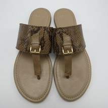 Cole Haan Linden Brown Snake Leather Women's Thong Flats Sandals Flip Fl... - $75.54