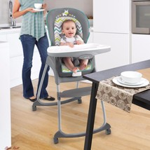 High Chair For Baby Toddlers Feeding Booster Seat Convertible Safety Spa... - $99.05