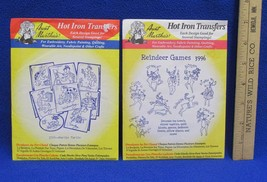 Hot Iron Transfers Reindeer Games & Day of the Week Murtle Turtle Craft ... - $6.92