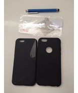 ULAK Silicone Slim Case with Tempered Screen Protector For iPhone 6 Cove... - $15.83