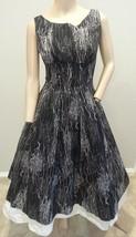 Vtg 15.2ms Schwarz Weiß Atomare Aufdruck Rock 'n' Roll Pinup Swing Kleid... - $175.28