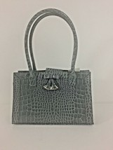 Liz Claiborne Gray Purse Embossed Crocodile Pattern Vegan Leather NWT VTG - $9.85