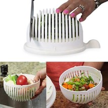 Salad Cutter Bowl Easy Fruit Vegetable Washer Cutter Quick Maker Chopper... - €10,42 EUR