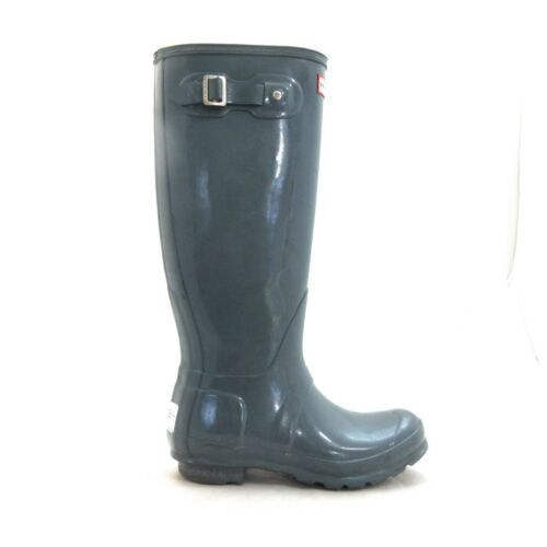 Primary image for 37/6 US - Hunter Tall Gray Buckle Waterproof Rain Rubber Gloss Boots 1221LL