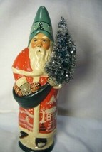 Vaillancourt Folk Art, Red Santa w/  Village Scene personally signed by Judi! image 1
