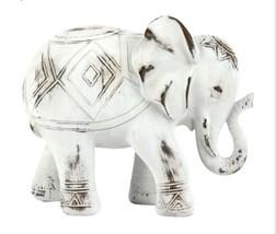 White Wash Elephant Figure 8X7 - $98.01