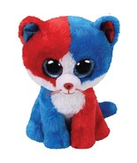 Ty beanie boos cute animals blue and red face cat plush toy doll christmas gift 6 thumbtall