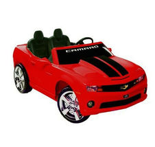 Kids Battery Operated Official NPL Chevrolet Racing Camaro 12 Volt Ride On Car image 1