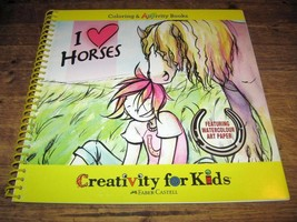 Coloring and ARTivity Book  I LOVE HORSES  Activity for Kids  Breyer Lovers - $12.99