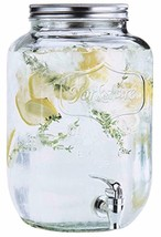2 gallon Glass Single Mason Jar Beverage Drink Dispenser With Leak Free... - $22.57
