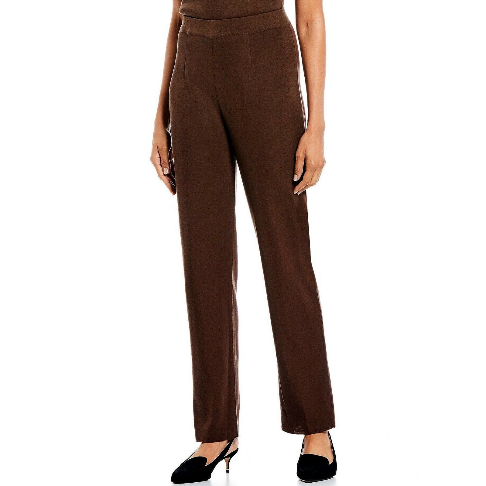 Giorgio Armani Women's Size 40 / Small Brown 100% Wool Dress Pant Trousers Italy