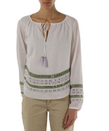 TORY BURCH sequined tie neck blouse Size 10 - $139.99