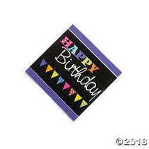 Chalkboard Birthday Beverage Napkins - $1.59