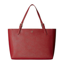 Tory Burch Robinson Kir Royal Red Saffiano Leather York Buckle Tote Bag NWT image 8
