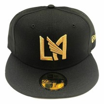 New Era 59Fifty Los Angeles Football Club Fitted Hat Black/Gold LAFC MLS - $34.99