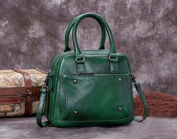 Sale, Genuine Leather Messenger Bag, Shoulder Bag, Satchel Bag image 5