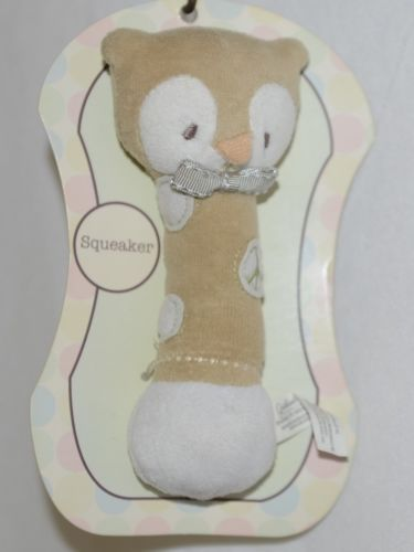 Grassland Roads 461773 Owl Cloth Squeaker Baby Toy 6 Inches Long