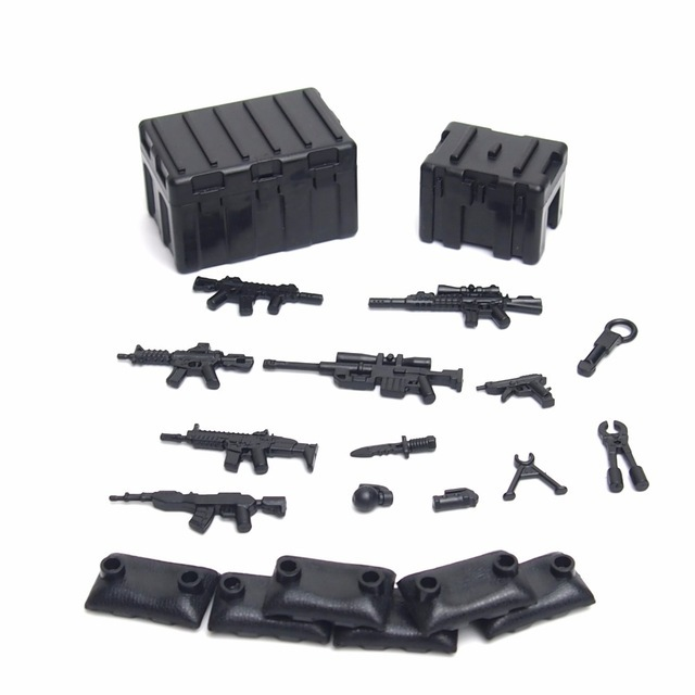 City MOC Military Weapons Pack Army Soldier SWAT Police Fit Lego Building Block for sale  USA