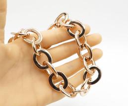 18K Gold & 925 Sterling Silver - Large Chain Link Necklace & Bracelet Se... - $279.52