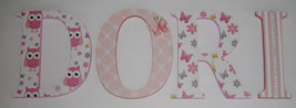 Wood Letters-Nursery Decor- Pink & Peach, Price Per Letter- Custom made ... - $12.50