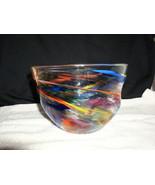 Peter Zelle Handcrafted Art Glass Bowl - $249.95