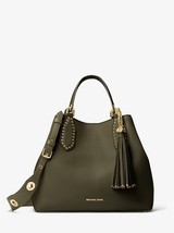 Michael Kors Brooklyn Olive Large Pebble Leather Magnetic Snap Fastening... - $719.99