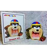 1993 Looney Tunes Tazmanian Devil Football Player Cookie Jar Canister MI... - $49.99