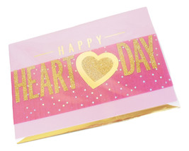 Hallmark Happy Valentine's Day Glitter Greeting Card Pink Heart Love You... - $6.95