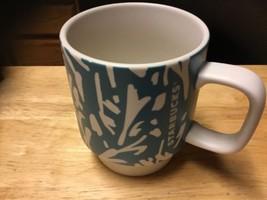 STARBUCKS Mug Aqua And Ivory 2016 12 oz Coffee Tea Cup - $19.30