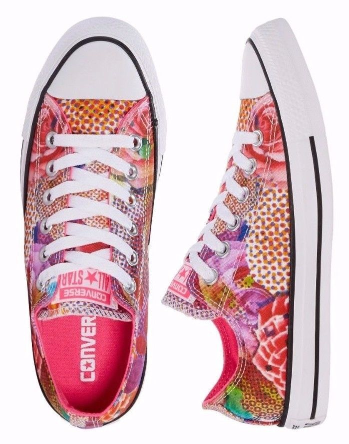 Women Converse Chuck Taylor AS Digital Floral Ox, 553298F Mul Sizes White/Neon P