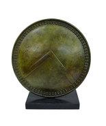 Bronze Spartan Leonidas shield sculpture Ancient Greek artifact collectible - $349.90