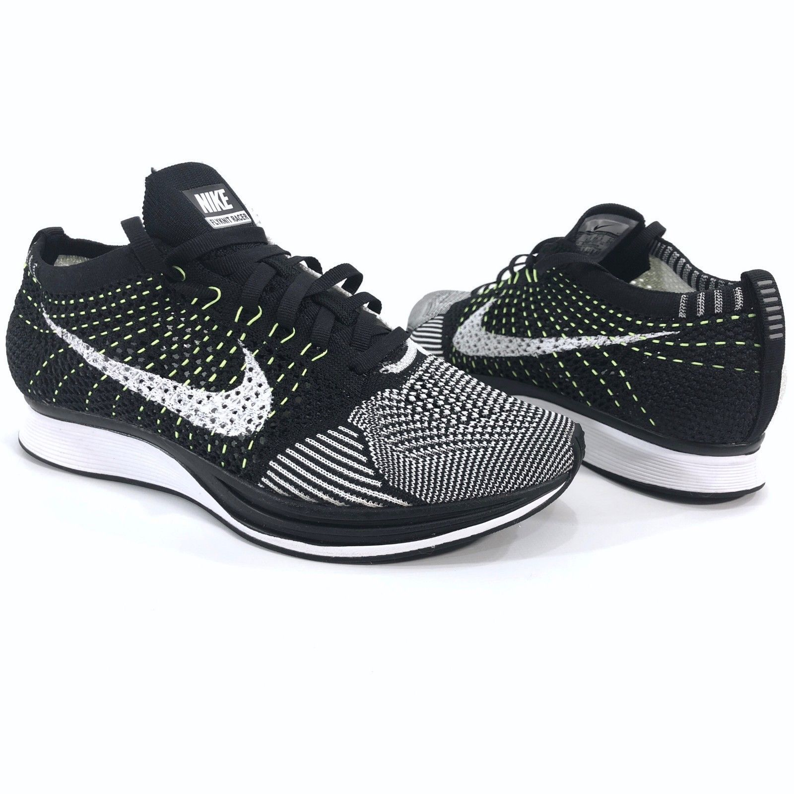a1f39f53360 Nike Flyknit Racer Men s Size 6 Oreo Volt and 49 similar items