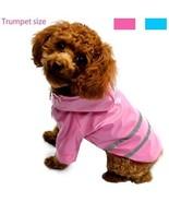 Pet Waterproof Raincoat Dog Jacket Poncho Rainwear PU Material Clothes ... - $19.37