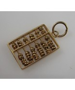 14K GOLD ABACUS Vintage Charm Pendant moveable parts marked 585 14K - FR... - $135.00