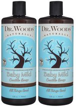 Dr. Woods Unscented Baby Mild Liquid Castile Soap, 32 Ounce (Pack of 2) - $38.60