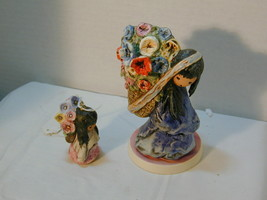 Goebel set of 2 girl figures carrying flowers - $316.80