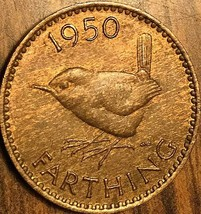 1950 UK GB GREAT BRITAIN ONE FARTHING - $2.35