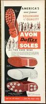 1953 Avon Du-Flex Shoe Soles PRINT AD America's Most Famous Avon Massach... - $9.59