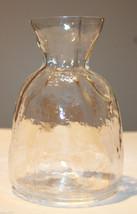 Art Glass Sea of Sweden Glasbruk Scandinavian Handmade Flower Vase Clear... - $48.55