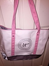 Brand New PINK/WHITE Totebag By Itcosmetics, Cute On, Great For Travel! - $17.00
