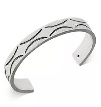 R.T. James Men's Silver-Tone Etched Cuff Bracelet - $34.64
