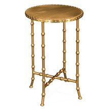 Chinoiserie Brass Bamboo Accent Table Antique Hollywood Regency New $417 - €313,38 EUR