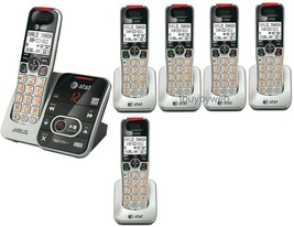 AT&T CRL32102 DECT 6.0 6 Cordless Phones w/Answering System & Talking Caller ID - $236.70
