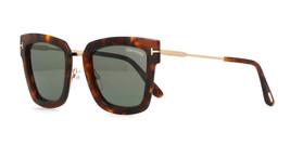 Tom Ford Lara-02 Sunglasses TF573 55A Squared Havana/Gold Smoke 52mm NEW - $179.95