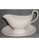 Wedgwood EDME PATTERN Gravy Boat w/Attached Underplate MADE IN ENGLAND - $79.19