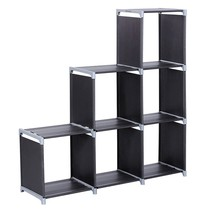 3 Tier Display Organizer Black 6 Cube Shelf Storage Closet Bookcase Cabi... - $25.73