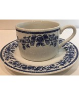 """Vintage Farberware """"BLUE CHINTZ""""  Cup & Saucer (Casual Concepts 211) Ove... - $14.40"""