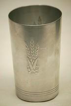 West Bend Spun Aluminum Tumbler Drinking Cup Wheat Designs Vintage 1950'... - $9.89