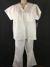 NEW Womens White Scrubs Set Size M-L  Medical Nursing Nurses Uniforms - $15.79